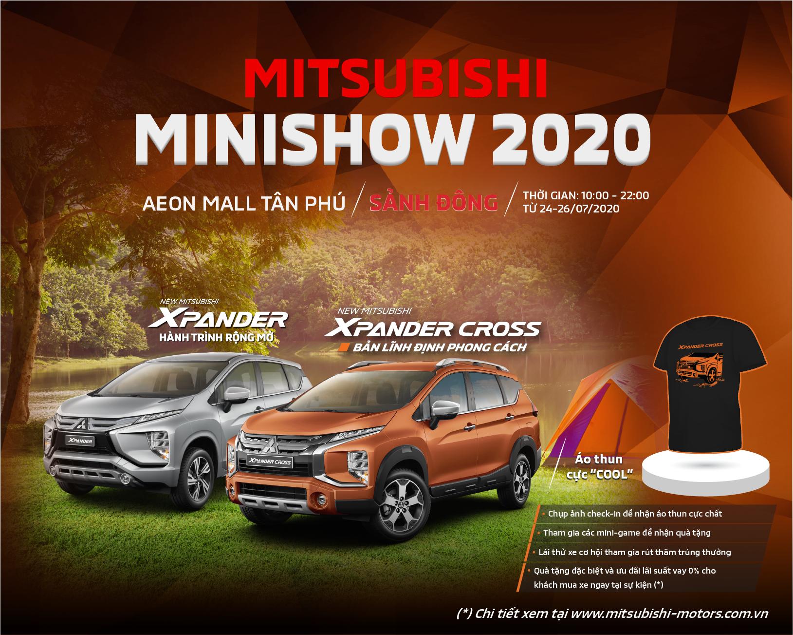 MITSUBISHI MINISHOW 2020 – CHUỖI SỰ KIỆN TRẢI NGHIỆM XPANDER & XPANDER CROSS TẠI CÁC TRUNG TÂM THƯƠNG MẠI TRÊN TOÀN QUỐC